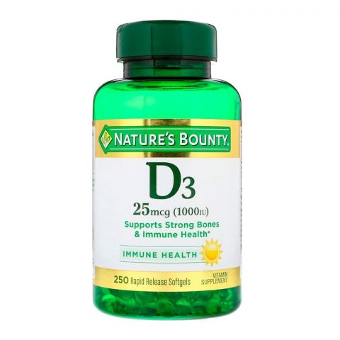 Nature's Bounty Vitamin D3 25mcg 1000 IU