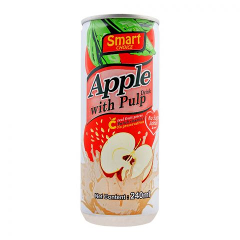 Smart Choice Apple Fruit Drink With Pulp, No Added Sugar, 240ml