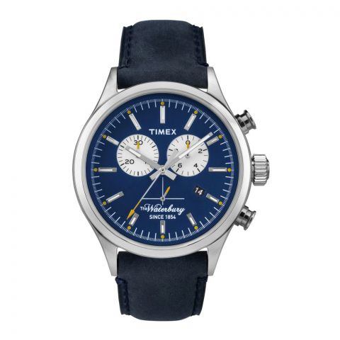 Timex Men's Waterbury Blue Chronograph Watch - TW2P75400