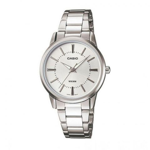 Casio Enticer Women's Silver Stainless Steel Analog Watch, LTP-1303D-7AVDF