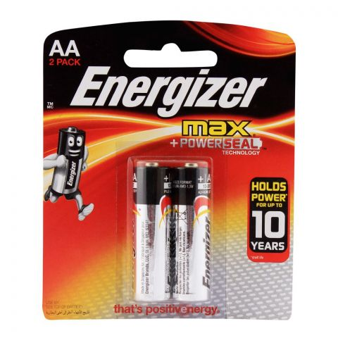 Energizer Max AA Batteries 2-Pack BP-2