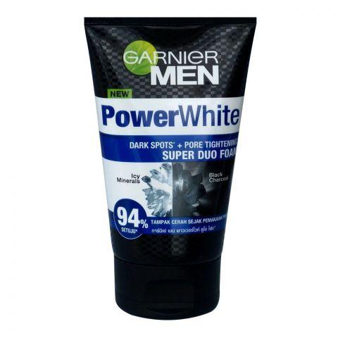Garnier Men PowerWhite Dark Spots + Pore Tightening Super Dua Foam, 100ml
