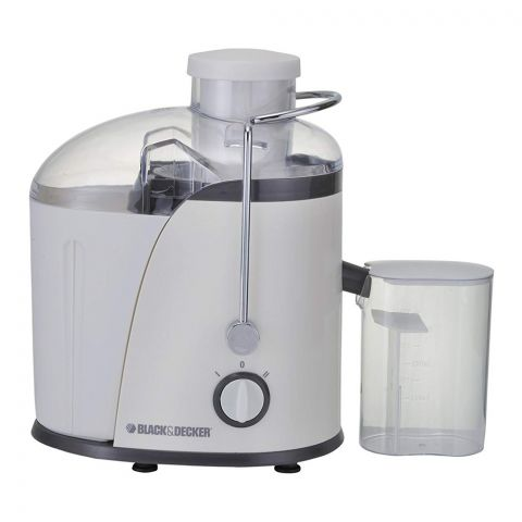 Black & Decker Juicer, White, 400 Watts, JE400