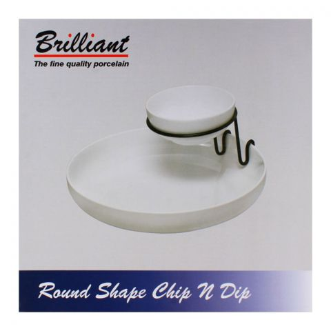 Brilliant Round Shape Chip-N-Dip Server BR-0063