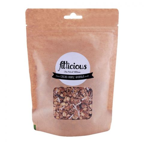 Fitlicious Cacao-Maple Granola Muesli, Small