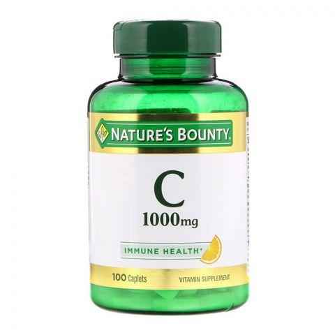 Nature's Bounty Vitamin C 1000mg, 100 Caplets, Vitamin Supplement