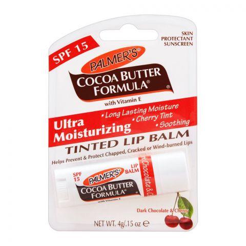 Palmer's Ultra Moisturizing Tinted Lip Balm, Cocoa Butter Formula, Chocolate & Cherry, SPF 15, 4g