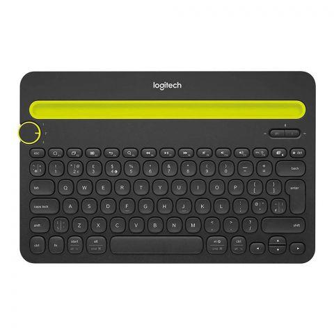 Logitech K480 Bluetooth Multi-Device Keyboard, Black/Green