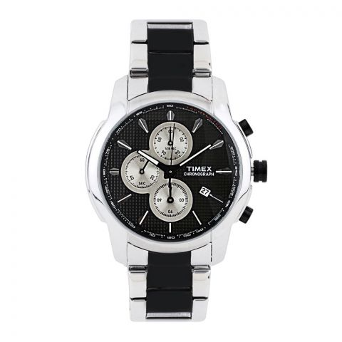 Timex E-Class Chronograph Black Dial Men's Watch - TW000Y506