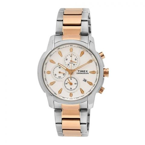 Timex E-Class Chronograph Silver Dial Men's Watch - TW000Y507
