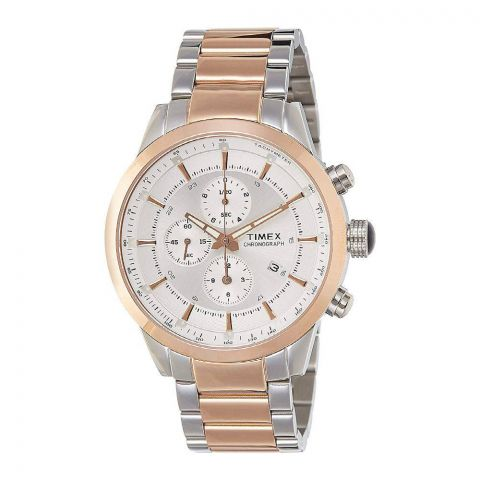 Timex E-Class Chronograph Silver Dial Men's Watch - TW000Y406