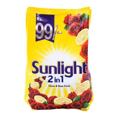 Sun Light 2-in-1 Clean & Rose Fresh Washing Powder 800g