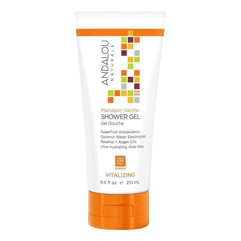 Andalou Mandarin Vanilla Vitalizing Shower Gel, 251ml