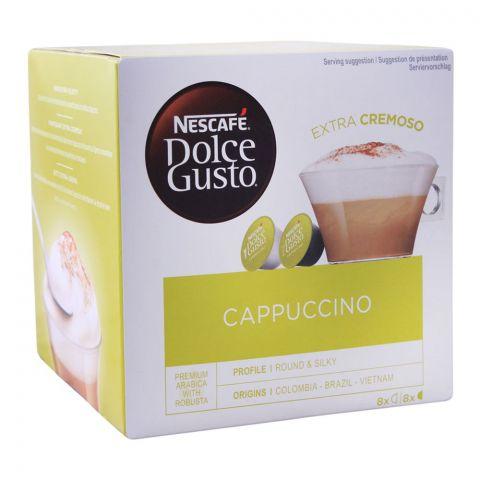 Nescafe Dolce Gusto Cappuccino Capsules, 8+8 Single Serve Pods