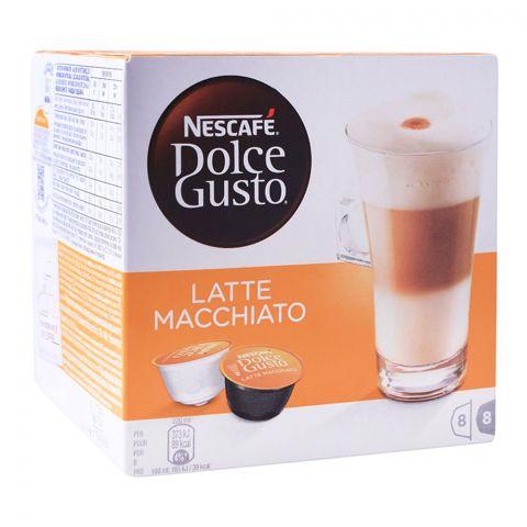 Nescafe Dolce Gusto Latte Macchiato Capsules, 8+8 Single Serve Pods