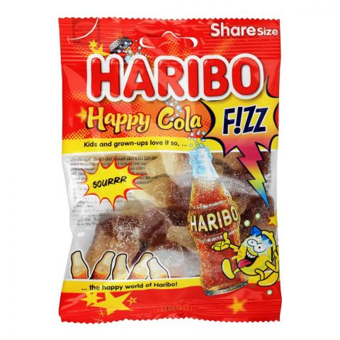 Haribo Happy Cola Fizz Jelly, Share Size Pouch, 80g