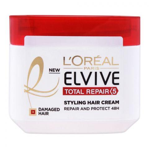 L'Oreal Paris Elvive Total Repair 5 Styling Hair Cream, For Damaged Hair, 200ml