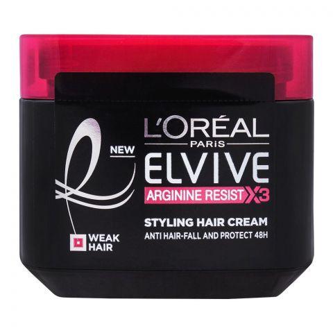 L'Oreal Paris Elvive Arginine Resist X3 Styling Hair Cream, For Weak Hair, 200ml