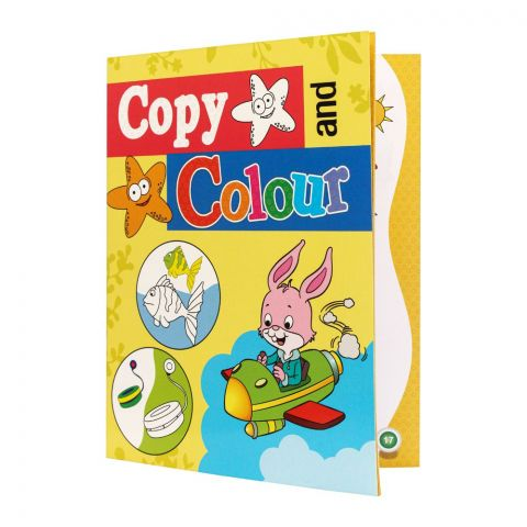 Copy And Colour Book Yellow