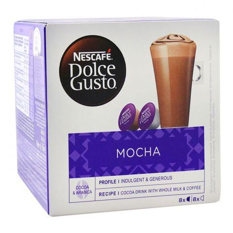 Nescafe Dolce Gusto Mocha Capsules, 8+8 Single Serve Pods