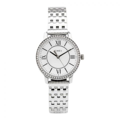 Timex Women's Style Elevated Silver Stainless-Steel Quartz Watch - TW2P80500
