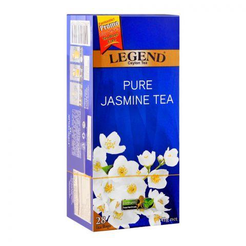 Legend Ceylon Tea Pure Jasmine Tea Bags, 25-Pack