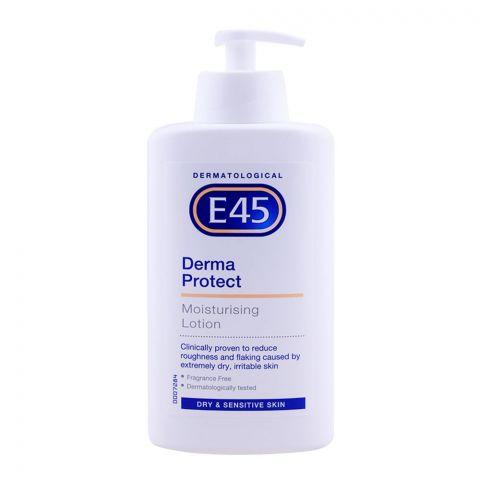E45 Moisturising Lotion Derma Protect, Dry & Sensitive Skin, 500ml