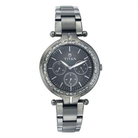 Titan Quartz Brown Dial Watch For Women, 9965QM01