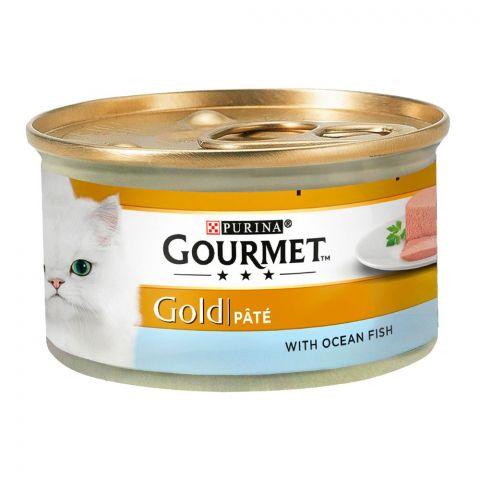 Purina Gourmet Gold Pate, With Ocean Fish, Cat Food, 85g, Tin
