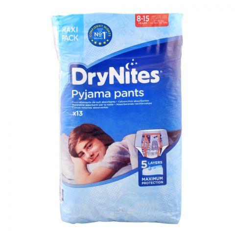 DryNites Boys Pyjama Pants, 8-15 Year, 27-5.jpg7 KG, Maxi 13-Pack