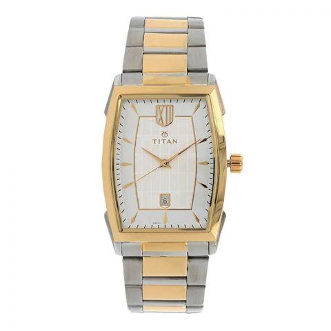 Titan Analog Silver Dial Stainless Steel Strap Men's Watch, 1692BM01
