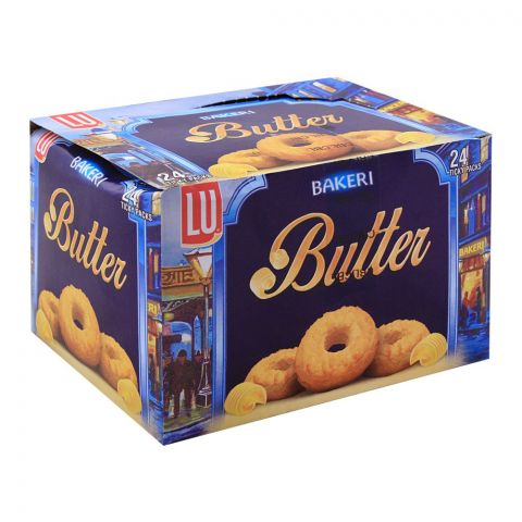 LU Bakeri Butter Cookies, 24 Ticky Packs