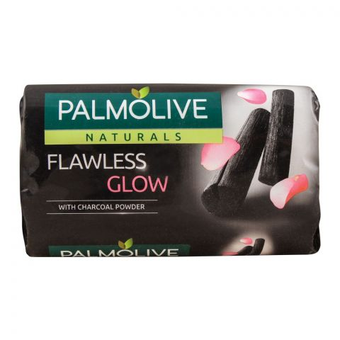 Palmolive Naturals Flawless Glow Soap, With Charcoal Powder, 110g