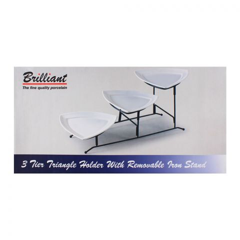 Brilliant 3 Tier Triangle Holder With Removable Iron Stan 8pcs BR-0104