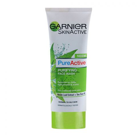 Garnier Skin Active Pure Active Neem Purifying Face Wash, For Normal to Oily Skin, 100ml