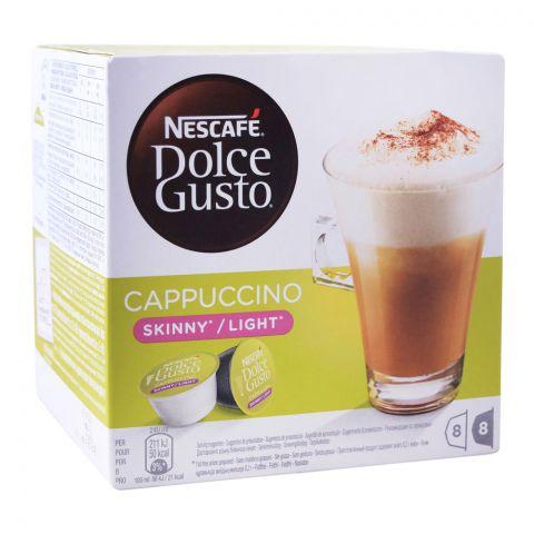 Nescafe Dolce Gusto Cappuccino Skinny/Light, 8+8 Single Serve Pods