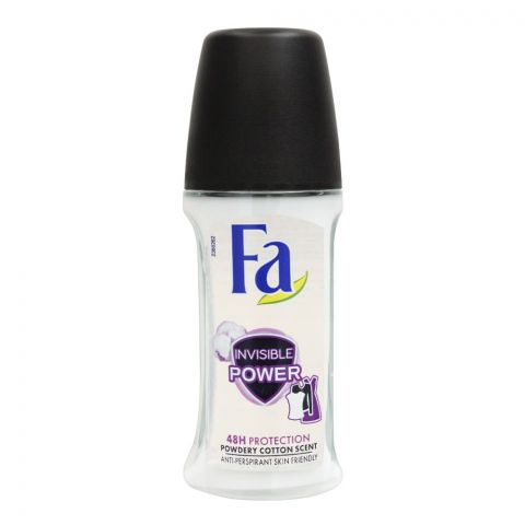 Fa 48H Protection Invisible Power Powdery Cotton Scent Roll-On Deodorant, For Women, 50ml