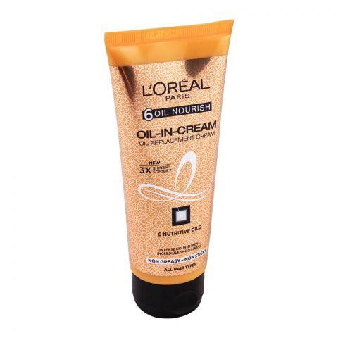 L'Oreal Paris 6 Oil Nourish Oil-In-Cream Oil Replacement Cream 100ml