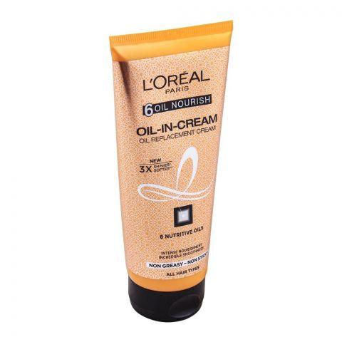L'Oreal Paris 6 Oil Nourish Oil-In-Cream Oil Replacement Cream 200ml