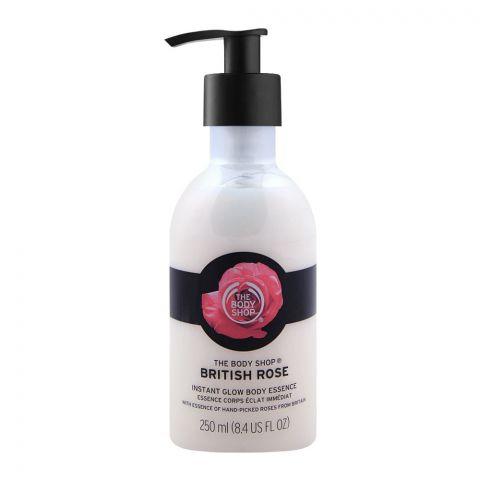 The Body Shop British Rose Instant Glow Body Essence, 250ml