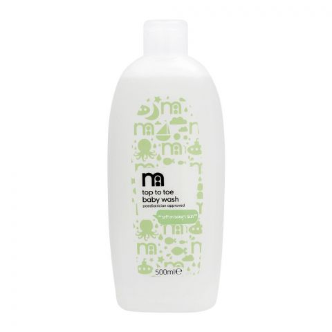 Mothercare No Tears Top To Toe Soft On Baby Skin Baby Wash, Imported, 500ml