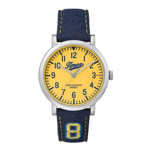 Timex Unisex Originals University Blue Leather Strap Watch - TW2P83400