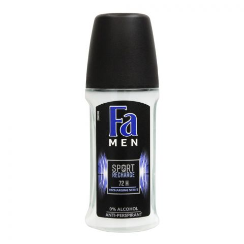 Fa Men 72H Sport Recharge Recharging Scent Roll-On Deodorant, For Men, 50ml