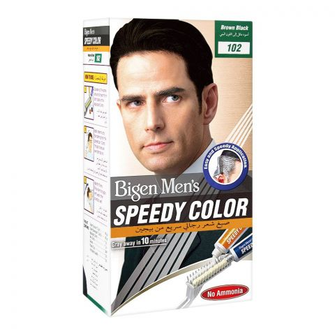 Bigen Men's Speedy Hair Color, Brown Black 102
