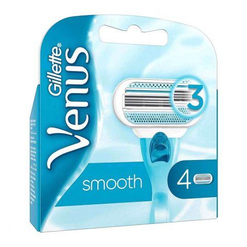 Gillette Venus Smooth Cartridges, 4-Pack