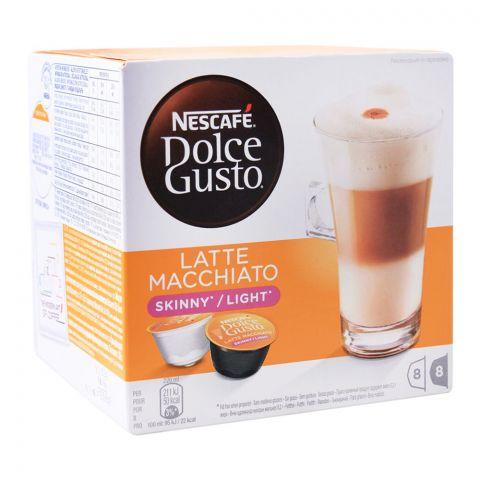 Nescafe Dolce Gusto Latte Macchiato Light/Skinny, 8+8 Single Serve Pods