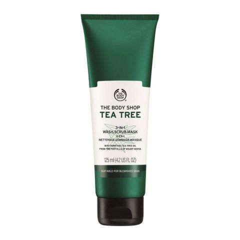 The Body Shop Tea Tree 3-in-1, Wash + Scrub + Mask, 125ml