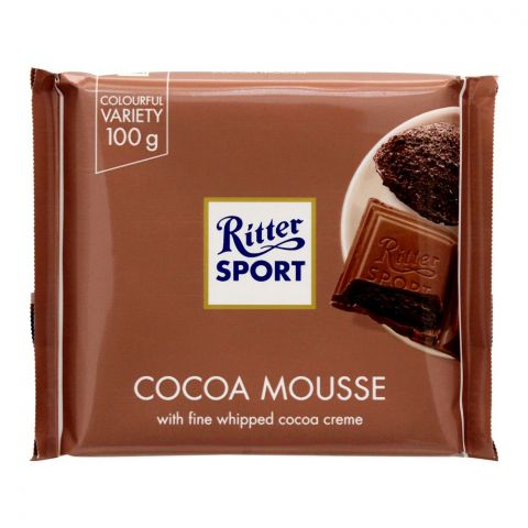 Ritter Sport Cocoa Mousse Chocolate, 100g