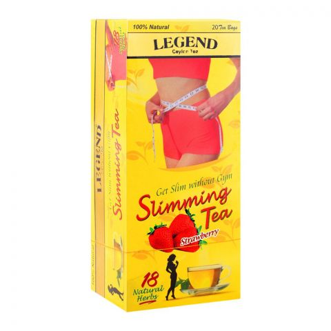 Legend Ceylon Tea Slimming Tea Bags, Strawberry, 20-Pack