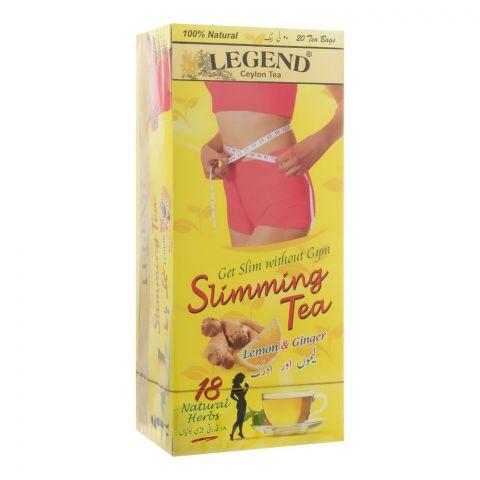 Legend Slimming Tea, Lemon & Ginger, 20 Tea Bags
